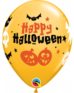 Happy Halloween Fun Icons Balloons Latex 11""